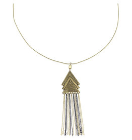 Sasha Association for Crafts Producers Triangle Streamer Necklace