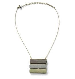Sasha Association for Crafts Producers River Stone Trio Necklace