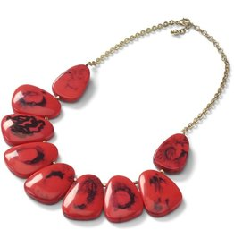 Sasha Association for Crafts Producers Red Riot Necklace