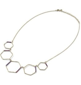 Sasha Association for Crafts Producers Wrapped Honeycomb Necklace