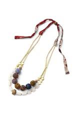 Sasha Association for Crafts Producers Sari Reborn Beaded Necklace