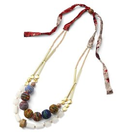 Sasha Association for Crafts Producers Sari Reborn Beaded Necklace