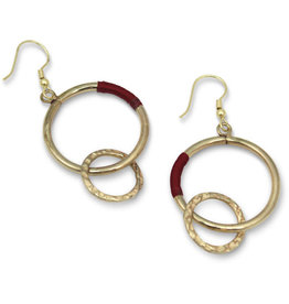 Sasha Association for Crafts Producers Red Thread Hoop Earrings