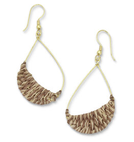 Sasha Association for Crafts Producers Gold Wire Teardrop Earrings