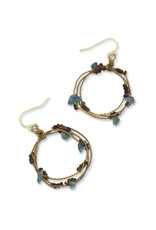 Sasha Association for Crafts Producers Stone Gold Hoop Earrings
