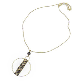 Sasha Association for Crafts Producers Circle Pendant Necklace