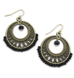 Sasha Association for Crafts Producers Black Beaded Earrings