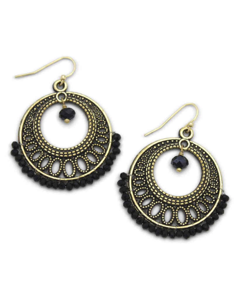 Sasha Association for Crafts Producers Black Beaded Earrings