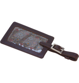 Craft Resource Center Espresso Leather Luggage Tag