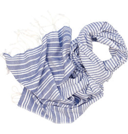 Craft Resource Center Blue & White Lines Scarf