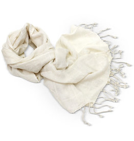 Craft Resource Center Ivory Fringed Scarf