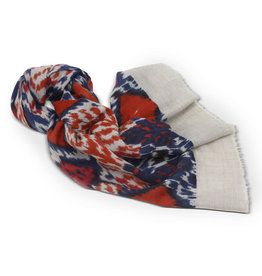 Craft Resource Center Red and Blue Wool Scarf
