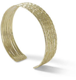 Noah's Ark Embossed Gold Cuff