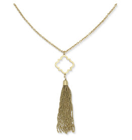 Noah's Ark Gold Tassel Necklace