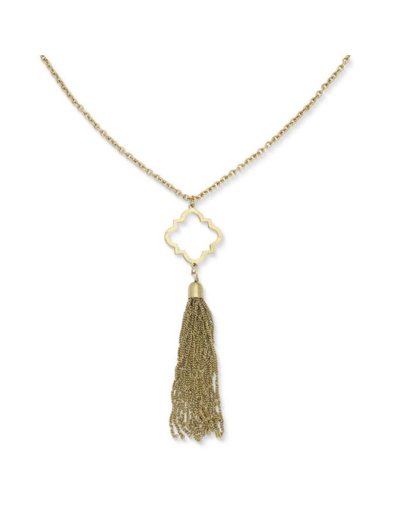 Noah's Ark Gold Tassel Necklace