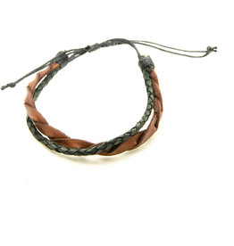Pekerti Nusantara Tri Braided Leather Bracelet