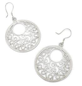 Pekerti Nusantara Silver Plated Filigree Earrings
