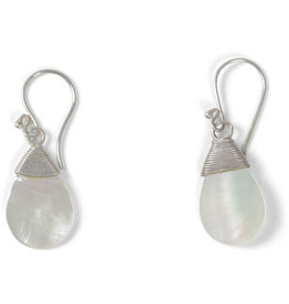 Mitra Bali Sterling Silver Teardrop Earrings
