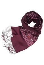 Phon Tong Handicraft Co-op Purple Ikat Silk Scarf