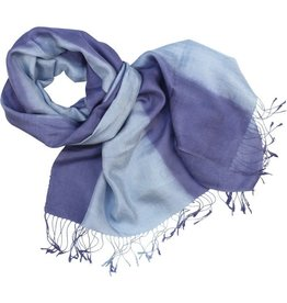 Phon Tong Handicraft Co-op Shades of Blue Silk Scarf