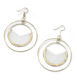 Saffy Handicrafts Capiz Cutout Circle Earrings