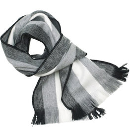 Maquita Chenille Striped Scarf