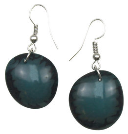 Maquita Teal Tagua Chip Earrings