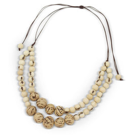 Maquita Tagua Beaded Necklace