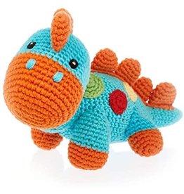 Kahiniwalla Turquoise Dinosaur Rattle