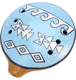 Manos Amigas Inca Ceramic Ocarina Flute (Large)
