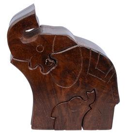 Asha Handicrafts Elephant Family Puzzle Box