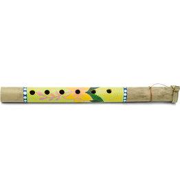 Mitra Bali Yellow Floral Bamboo Flute