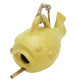 Association of Craft Producers Fish Face Bird Feeder (Yellow)