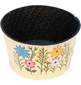 Noah's Ark Recycled Tire Garden Planter White