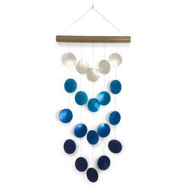 Saffy Handicrafts Blue Ombre Capiz Wind Chime
