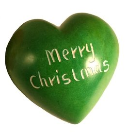 Maisha Green Merry Christmas Heart