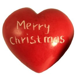 Maisha Red Merry Christmas Heart