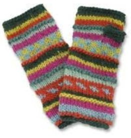 Kumbeshwar Technical School Multi-colour Fingerless Gloves