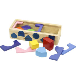 Golden Palm International Build Your Own Wooden Shape Sorting Box