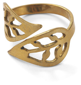 Rajana Association Brass Bombshell Leaf Ring