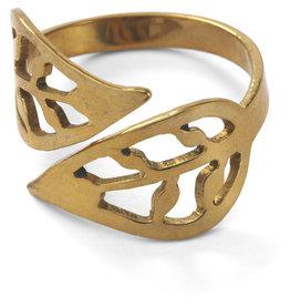 Rajana Association Brass Bombshell Leaf Ring