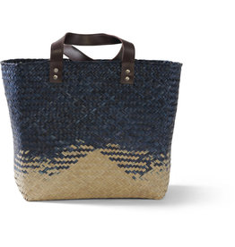 Mai Vietnamese Handicrafts Navy Seagrass Bag
