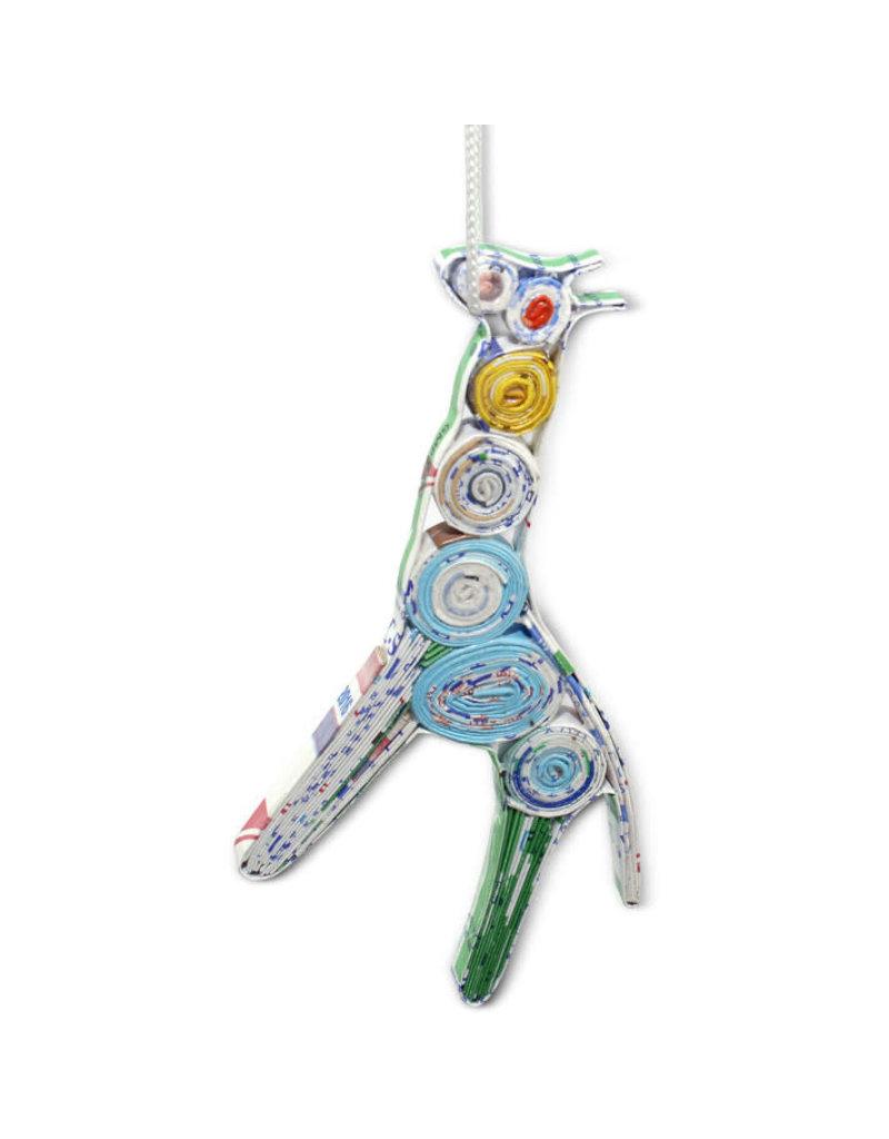 Mai Vietnamese Handicrafts Paper Giraffe Ornament