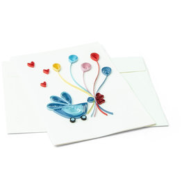 Mai Vietnamese Handicrafts Welcome Baby Quilled Greeting Card