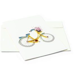 Mai Vietnamese Handicrafts Bicycle Greeting Card