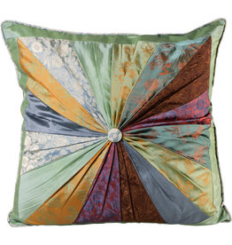 Mai Vietnamese Handicrafts Patchwork Pillow