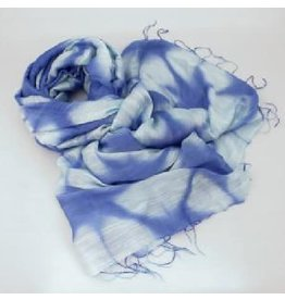 Craft Link True Blue Tie Dyed Scarf