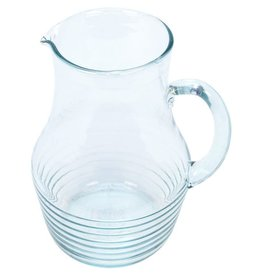 Crisil Srl Ribbed Glass Pitcher