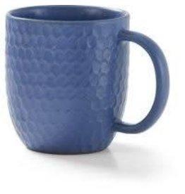Mahaguthi Blue Honeycomb Stoneware Mug