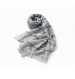 Allpa Blue Striped Grey Scarf